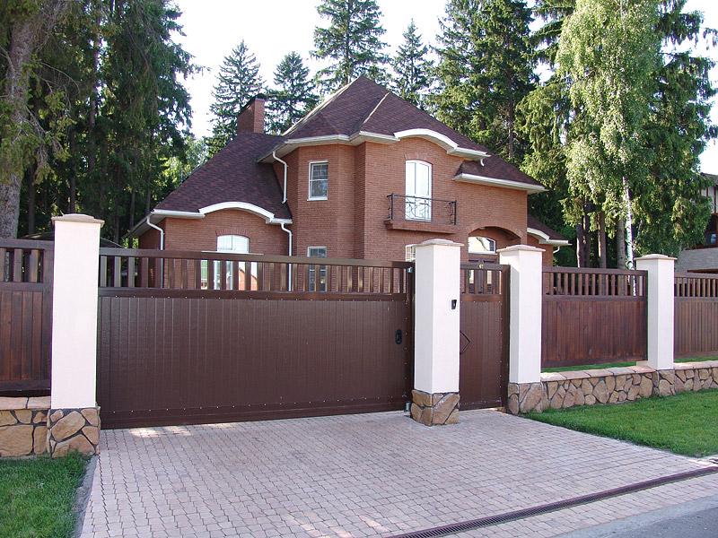 Ворота для дома в некрасовке распашные металические ворота